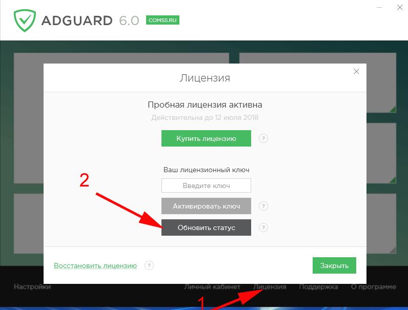 adguard 6.0 официальные ключи можно